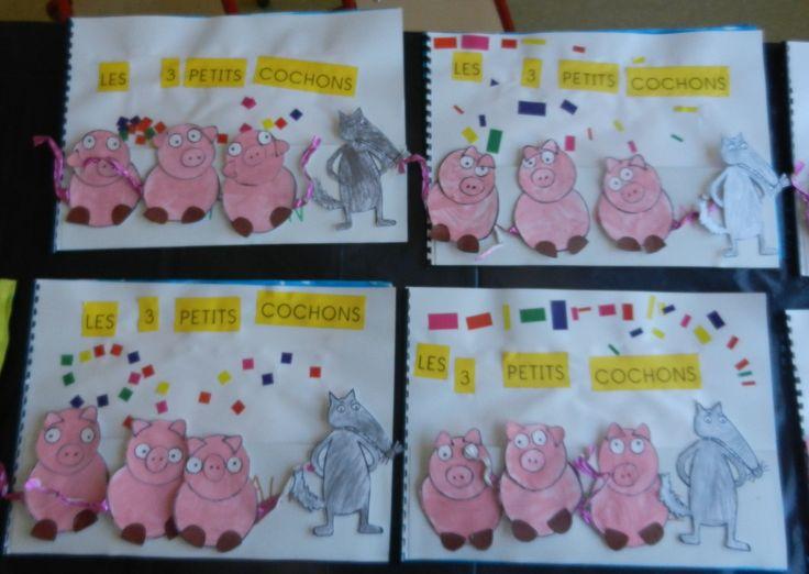 album à compter sur les 3 petits cochons
