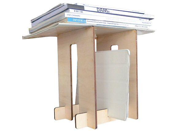 Laser cut wood,ebook reader stand,modern magazine rack,small magazine rack,tablet stand,magazine holder,tablet holder,geek gifts,cool stuff