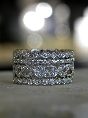 Stacking eternity bands on my right hand.. Can't wait to start this collection!! & keep adding for milestones like our first child, second child, etc. Fingers crossed for my first one to be an Xmas gift!!!
