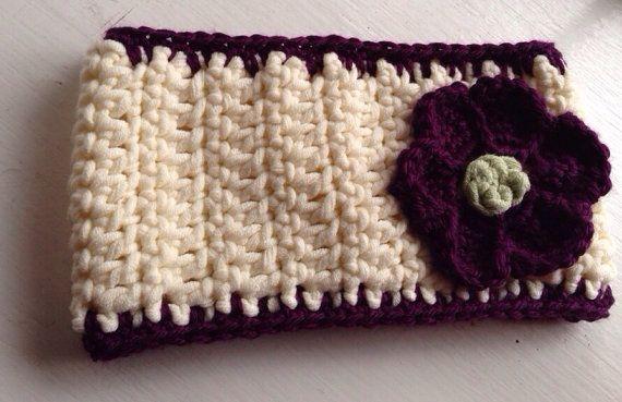 Girl's Crochet Ear Warmer with Flower Detail on Etsy, $24.00