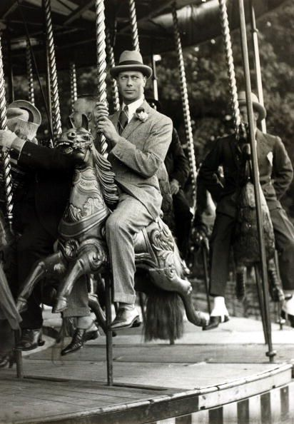 """Prince Albert (""""Bertie"""") of York [future King George VI], Cookham Fair, 1922 (Daily Graphic, private collection)"""