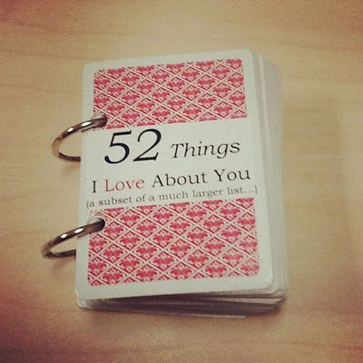 52  I Love About You Craft
