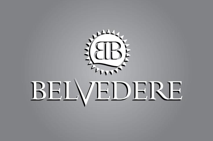 """Logo for """"Belvedere"""" beach resort."""