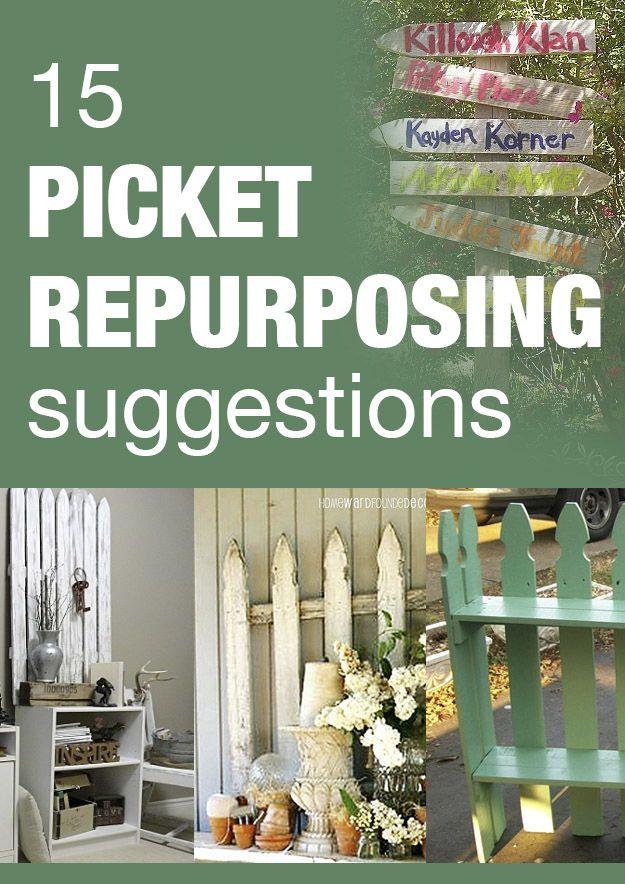 58 Best Picket Fence Repurpose Amp Diy Images On Pinterest