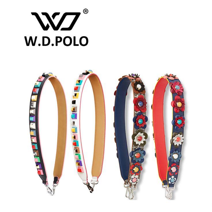 W. d. polo tali sabuk strapper anda keling tas wanita tas wanita tas tas aksesori bagian kulit sapi icon tas sabuk p1715