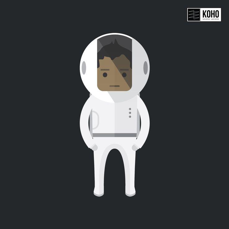 ____________ KOHO Studio  __ KOHO char.s  __ Astronaut Character Design