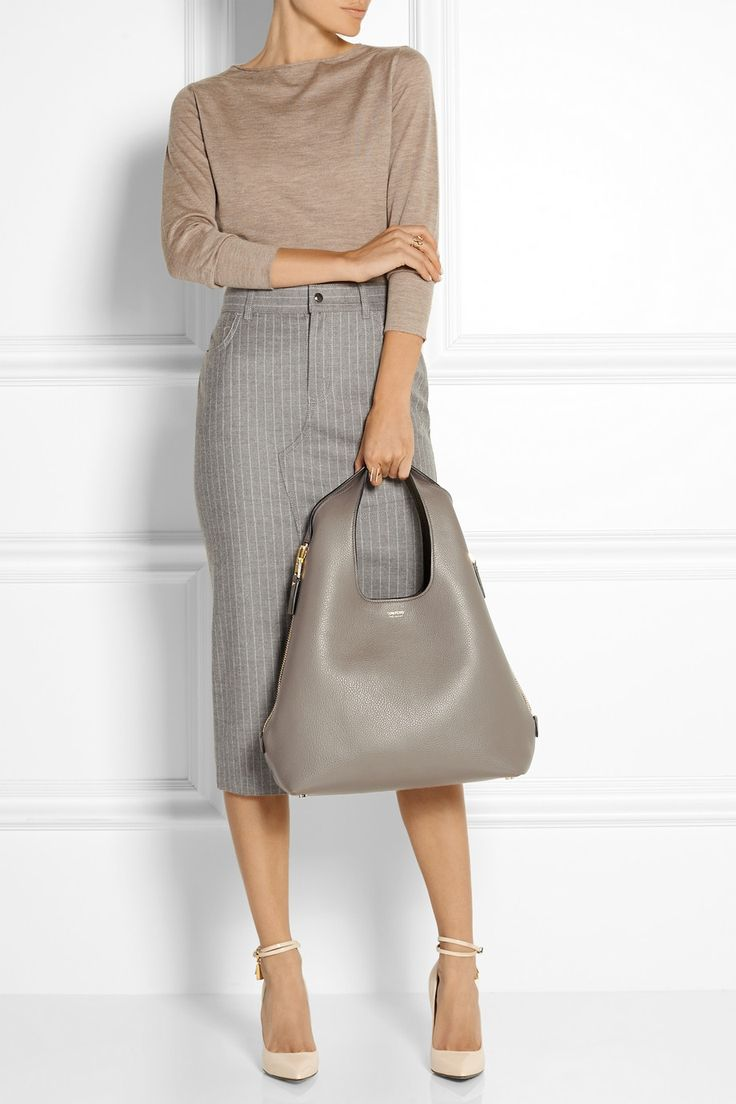 Tom Ford#workwear |Jennifer textured-leather tote | net-a-port...