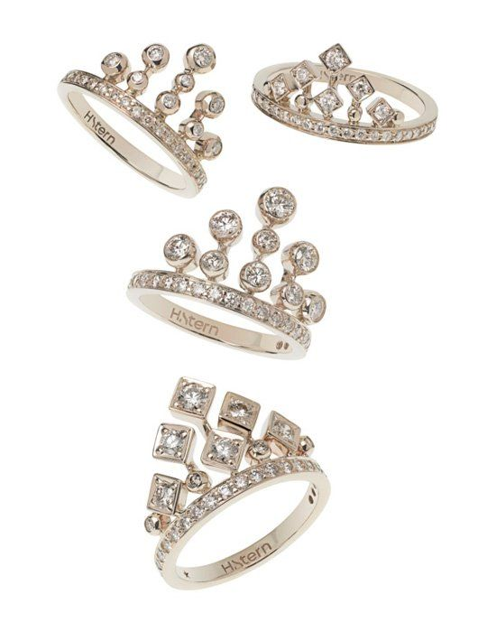 H. Stern - King and Queen Rings in 18k Noble Gold with Diamonds