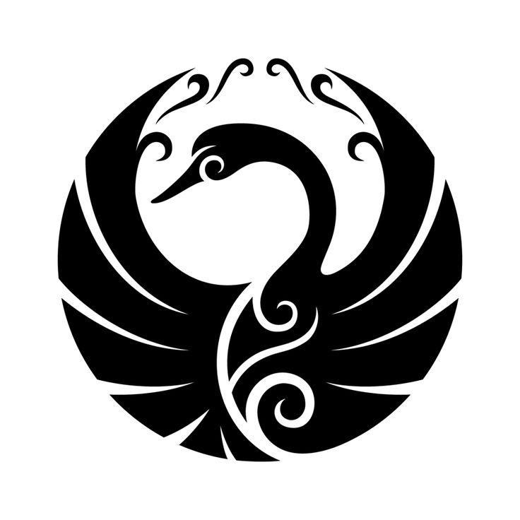 #tribalart #swan #tattoo #tribalswan #swantattoo #tribaltattoo #tattooideas #vectorart #vectorgraphics #tribalbird #birddesign #minimalistictattoo #circulartattoo