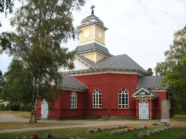 Ullavan kirkko. Kuva: MV/RHO Maria Kurtén 2006