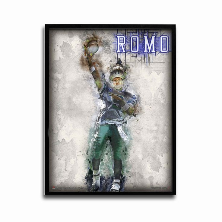 Dallas Cowboys Tony Romo Texas Gunslinger 24x18 Football Poster