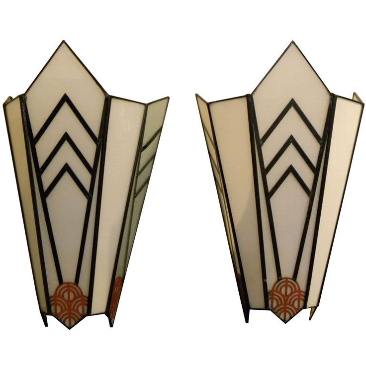 USA, 1930s Art Deco theater sconces
