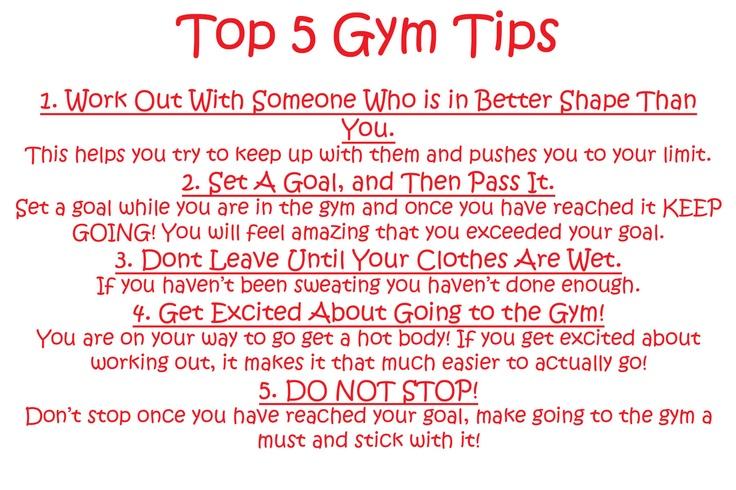 5 Gym tips