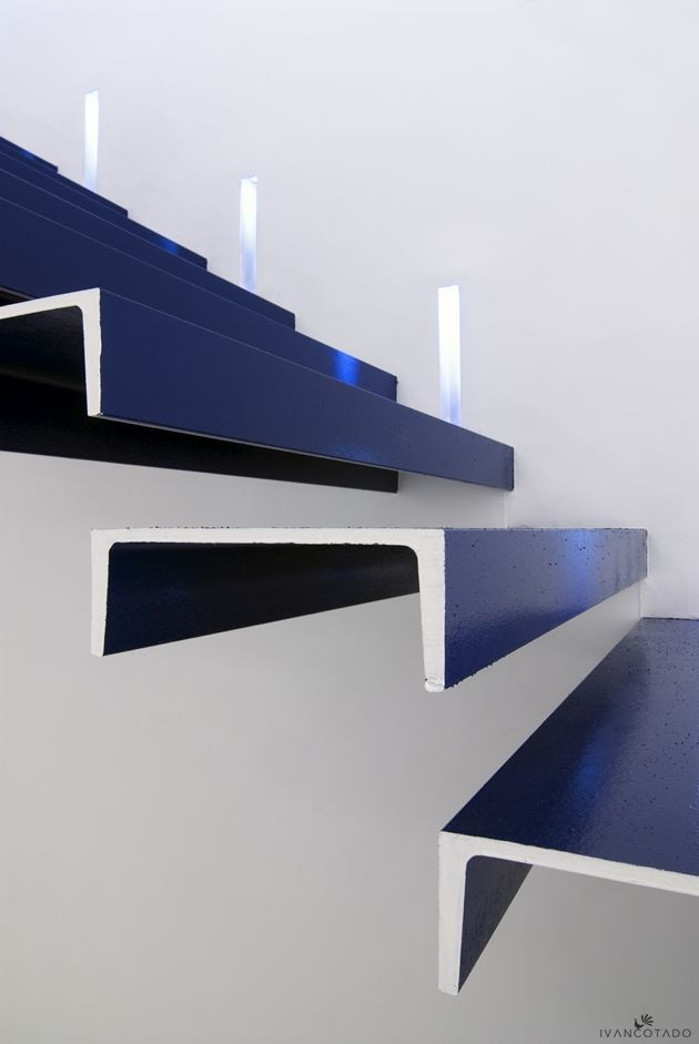 Cantilevered C-Channel Treads - can't find credit to the designer.