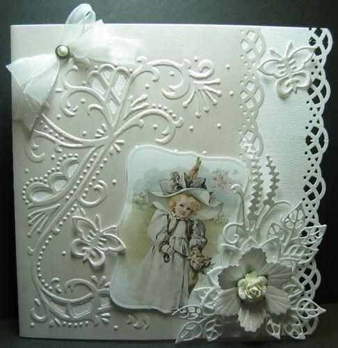 All in White Card with Bossy Folders and Collage Photo