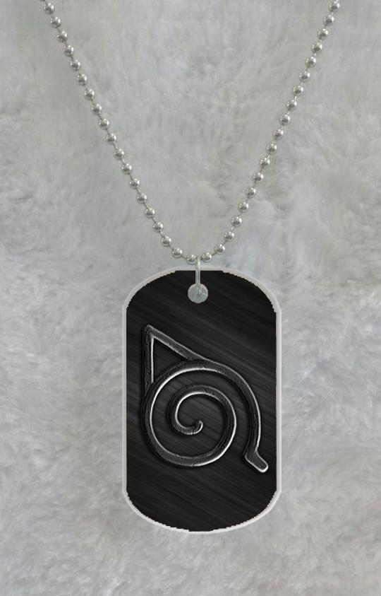 Naruto Logo Konoha Custom Pet Dog Tag Pendant Necklace Chain Metal Tags from Lookseacase,$5.23   DHgate.com