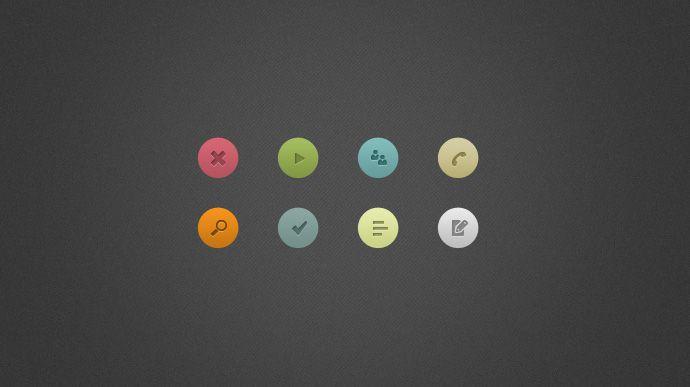 8 Piece Simple Icon
