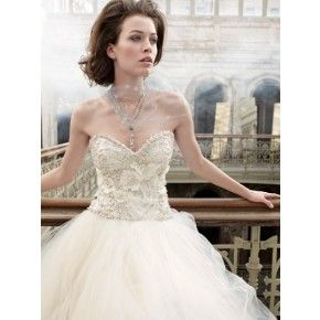 Size 6 to 20 vory Swetheart Chapel Train Satin & Tulle Ball Wedding Dress Gown