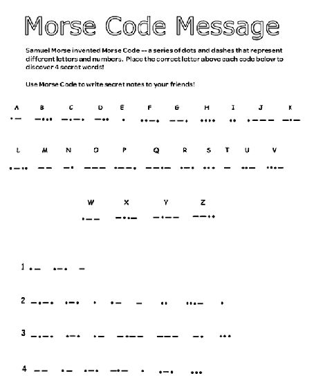 79 best Morse Code images on Pinterest Mugs, Alphabet and - sample morse code chart
