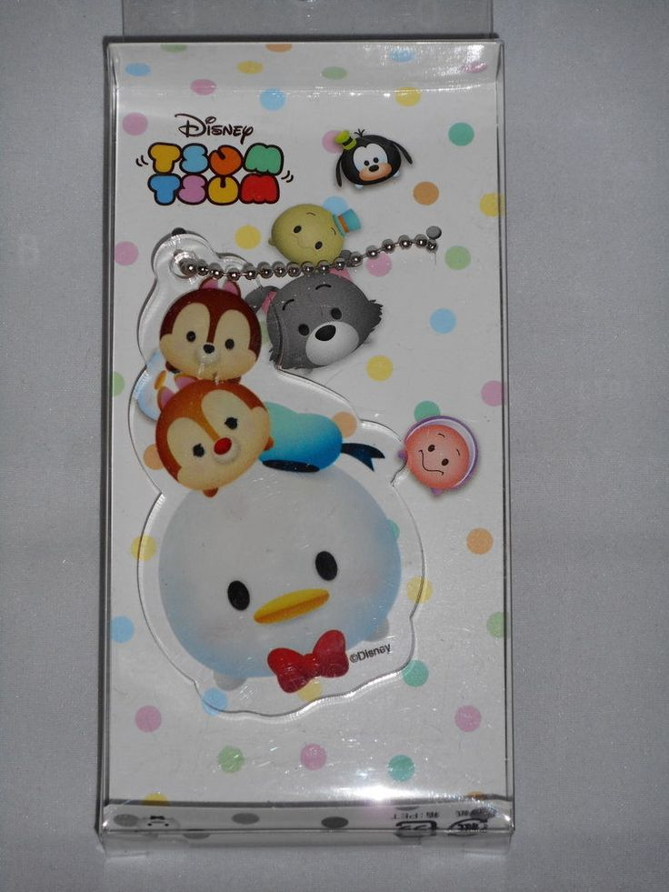 Disney Tsum Tsum Acrylic Key Chain (Donald) Runa Japan