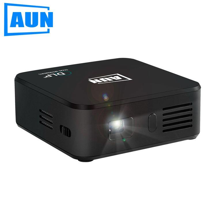 Aun akey seri e3 set di android wifi bluetooth dlp proyektor mini proyektor dengan 3000 baterai untuk pertemuan bisnis mAh kuliah