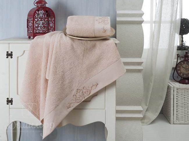 Набор полотенец KARNA VELSEN пудра от Karna (Турция) - купить по низкой цене в интернет магазине Домильфо