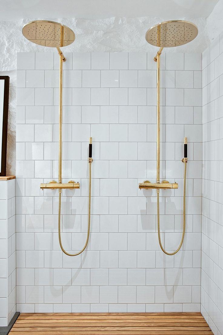 fixtures tile more bathroom ideasdouble shower showergold