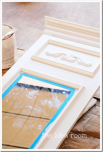DIY mirror tutorial - trumeau style using a cheap dorm style mirror as the base...brilliant!