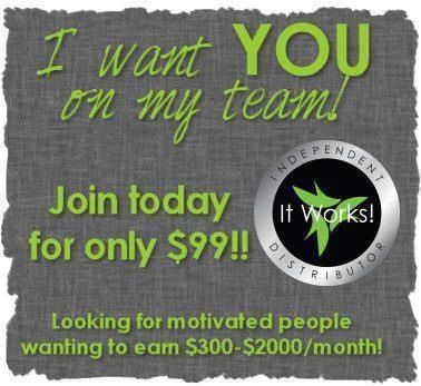 Looking for friends who would love to work on my team!!! It Works Global is an amazing company!!