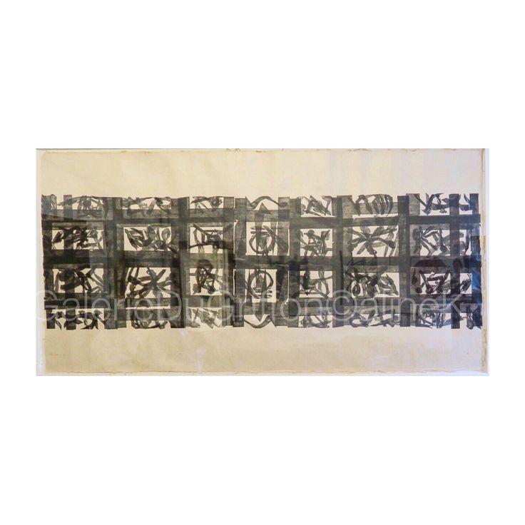 ➕MARIA BONOMI PRÉ-TETRAS, 2003 Bois de fil, 158 x 308 Xylogravure | xylographie Signée & annotée V| B2|5