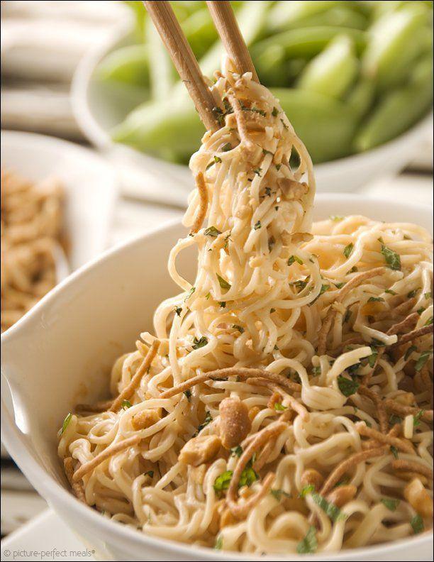 Peanut Butter Ramen Noodles - Click for 20 more easy Ramen Noodle Recipes!