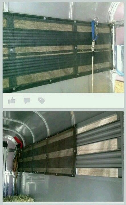 Mesh screen from TSC (in tarp section) to make screens for slat side trailers (from a member of Horse Trailer Conversions)