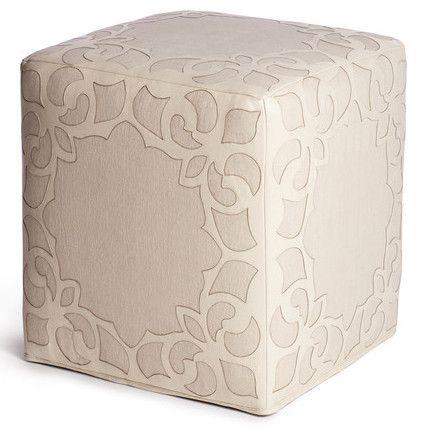 Brighton Ottoman - Cream Leather