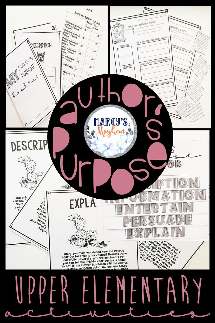 Author S Purpose Worksheets Activity For 4th Grade 5th Grade Authors Purpose Author S Purpose Worksheet Authors Purpose Activities