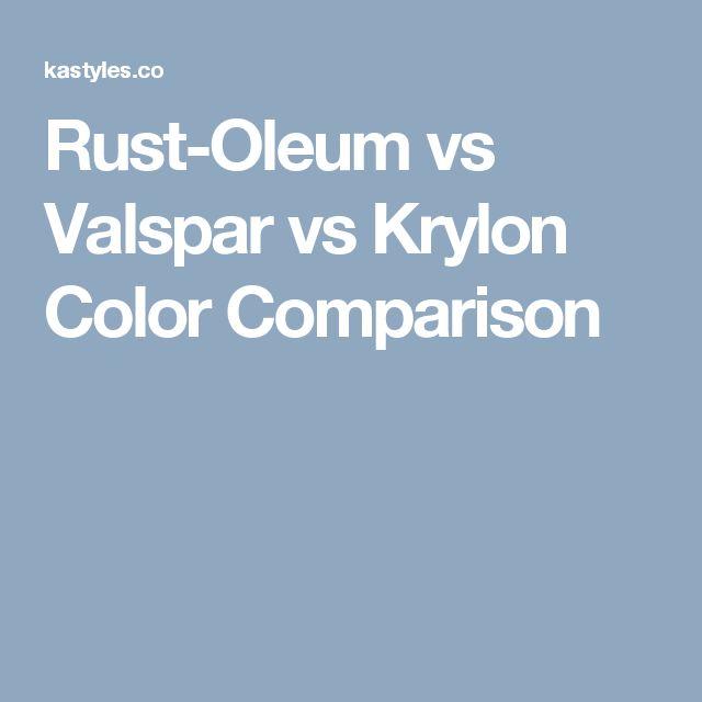 Rust-Oleum vs Valspar vs Krylon Color Comparison