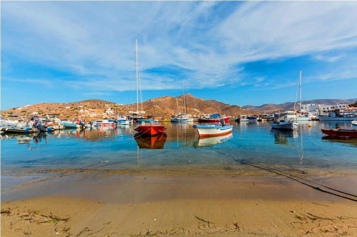 Port for small #boats at Ios island! #Greece #greekislands #travel #colours #cruises