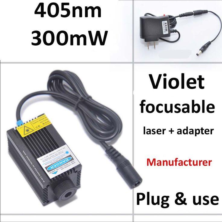 300 МВт фокус фиолетовый лазер с адаптером питания вилки и использовать, чтобы зажечь спичку или гравировки что-то