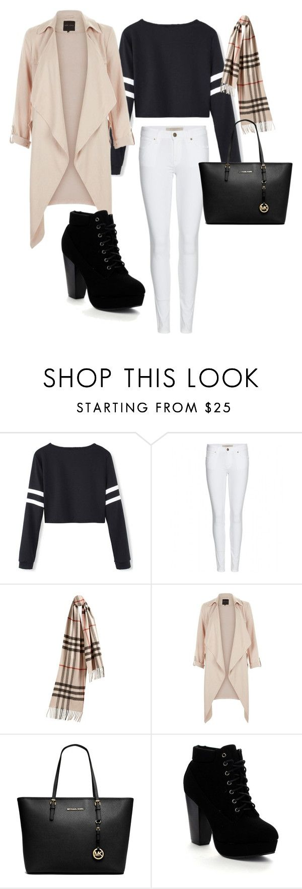 """""""casual but modern winter-spring wear"""" by klara-kandare ❤ liked on Polyvore featuring beauty, Burberry, Michael Kors, Beston and modern"""