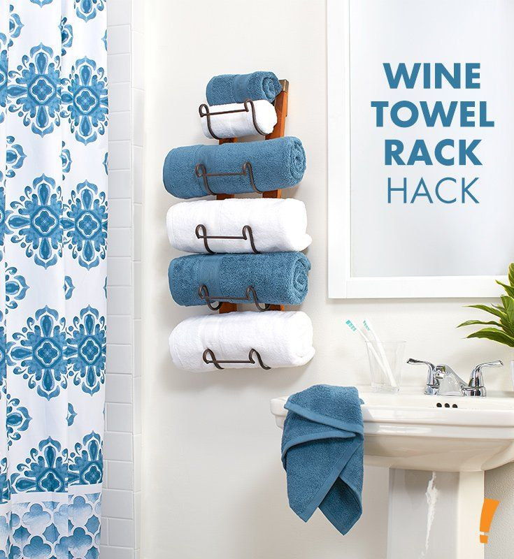 Use A Wine Rack In Your Bathroom To Hold Towels Bathroom Decor