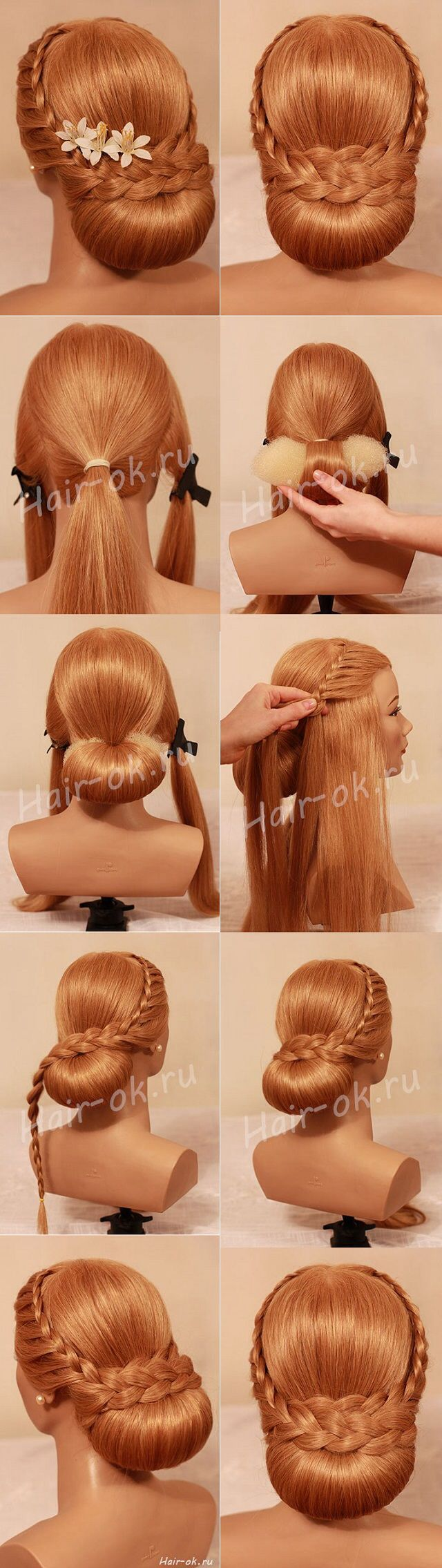Hairstyle for long hair: instruction. Evening and everyday hairstyles 53