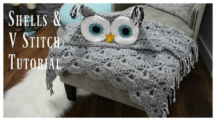 Shells & V Stitch is the stitch pattern I used in my Viral Hooded Owl Blanket! I also used this stitch to make my Beach Mermaid Blanket. It's a beautiful sti...