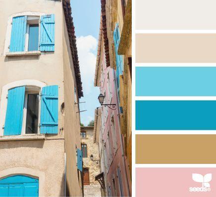 Paleta de colores con el color azul