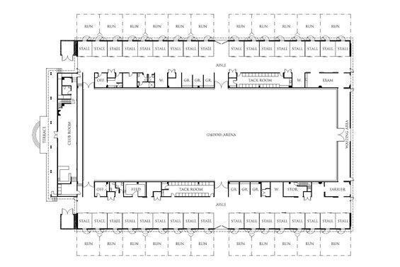 home garden plans B20H - Large Horse Barn for 20 Horse Stall - 20 - copy barn blueprint 3
