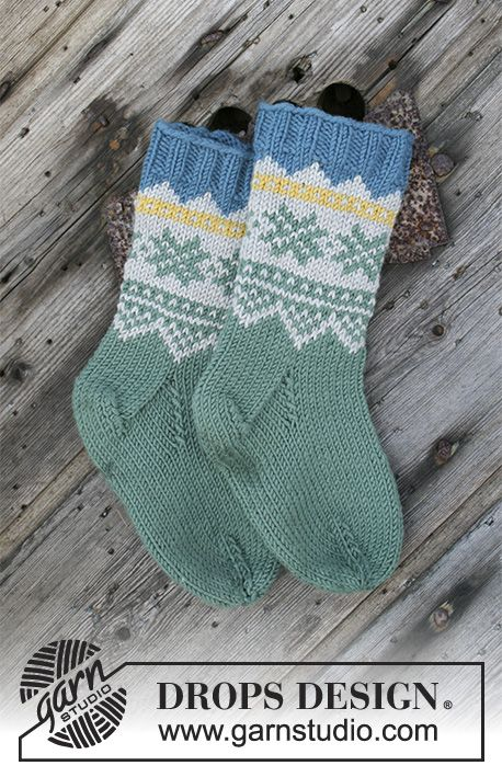 Seiland Socks / DROPS Children 30-6 – Gestrickte S…