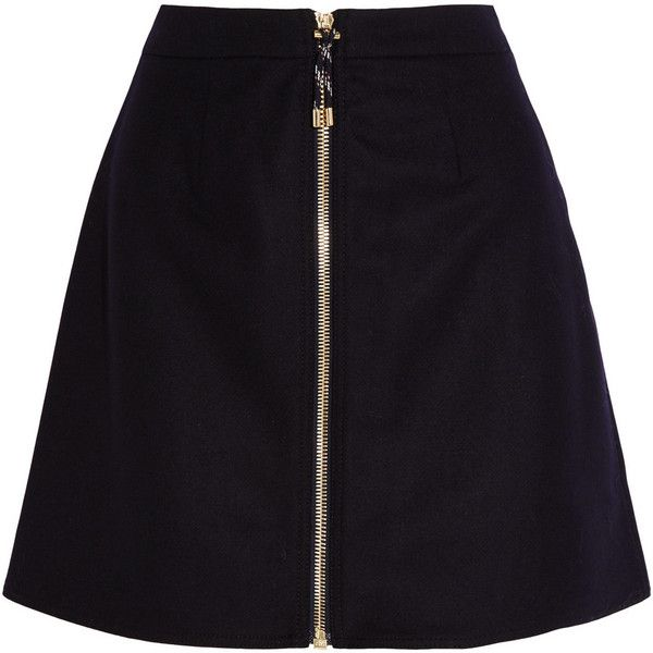 Acne Studios Prisca wool-blend twill mini skirt (€275) ❤ liked on Polyvore featuring skirts, mini skirts, bottoms, saias, юбки, short skirts, structured a line skirt, mini skirt, twill mini skirt and wet look skirt