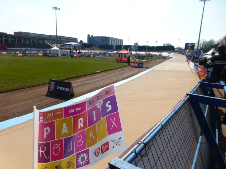 The track before the cyclists arrive.
