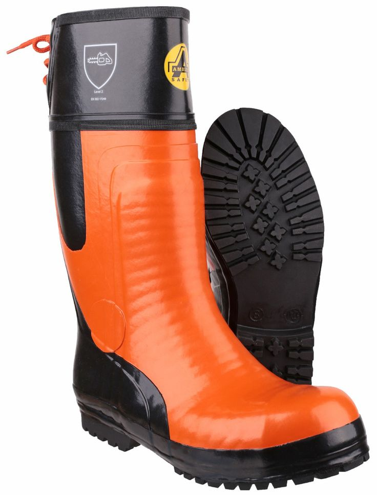 AMBLERS SAFETY - FS992 CHAINSAW BOOT • Amblers Safety Chainsaw Boot • Fully waterproof safety boot • Hand-built, reinforced rubber upper • Chainsaw protection to 24m/s • Hard-wearing Commando pattern nitrile rubber outsole