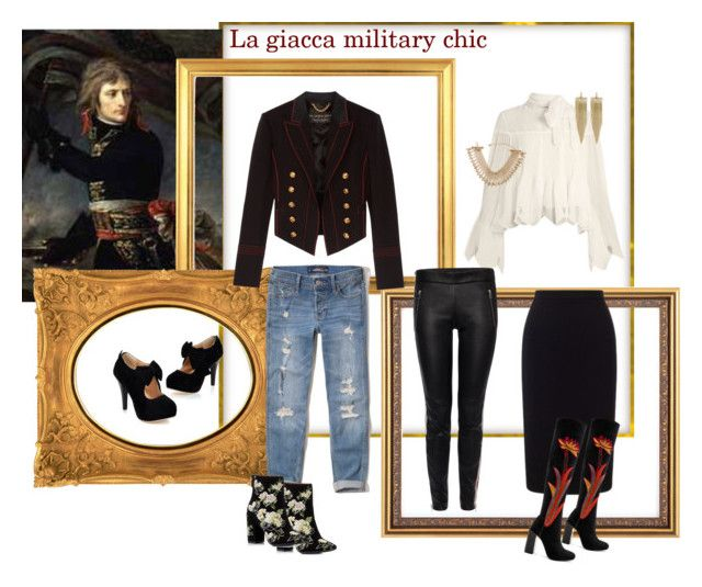 La giacca military - chic by thefashioncherrydiary on Polyvore featuring moda, See by Chloé, Burberry, Hollister Co., Alexander McQueen, Roland Mouret, Jeffrey Campbell, Miss Selfridge, Lydell NYC and Kenneth Jay Lane