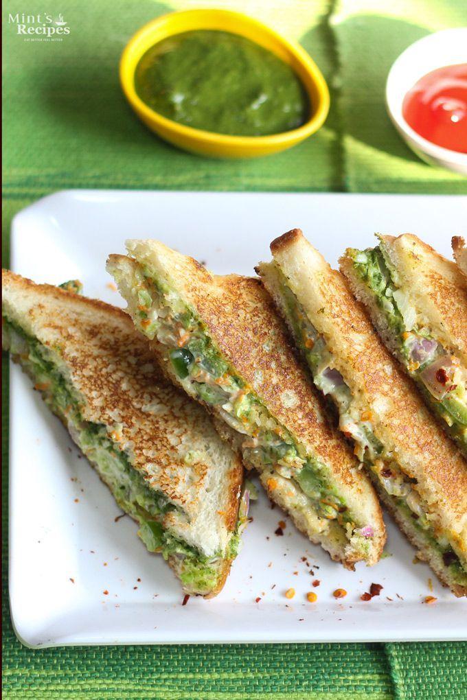 Veg Mayonnaise Sandwich Recipe | visit http://www.mintsrecipes.com