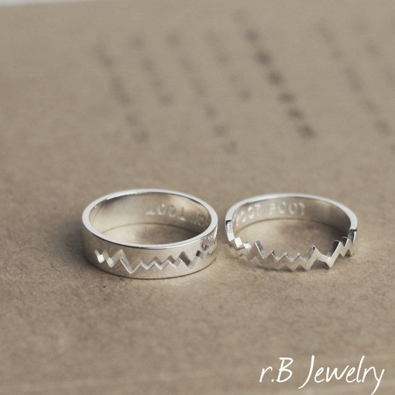 Personalized Promise Ring, Gifts For Him, His and Her Promise Ring, Promise Rings For Couples, Couple Ring Set, Couples Ring, Boyfriend Gift